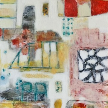 """Playa by Kathryn Stowell, Mixed Media 8"""" x 8"""""""
