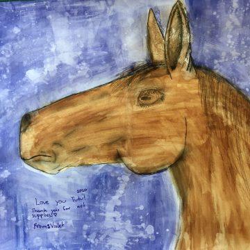 """Apollo by Violet Miroyan, Watercolor 14"""" x 14"""""""