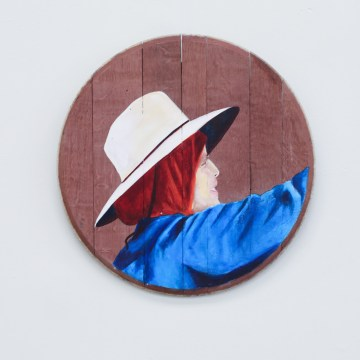Perla Correa byArleene Correa Valencia,Acrylic on Barrel