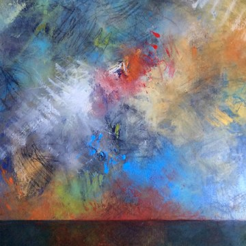 "Sunrise on Hope by Beth Shields, $1200, Oil on Canvas, 40"" x 20"""