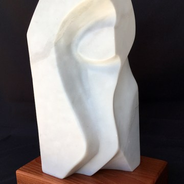 """A special eye is always on you"". Billy Collin's ""All Eyes"" by Michael Bashista, $300, Marble Sculpture, 12"" x 5"" x 4"""