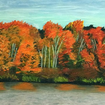"Autumn Glory by Sylvia Winsby, $150, Pastel, 9"" x 12"""