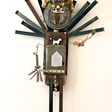 "Happy Haint Studio Spirit (Belle) by Laura Laura, $500, Assemblage, 38"" x 24"""