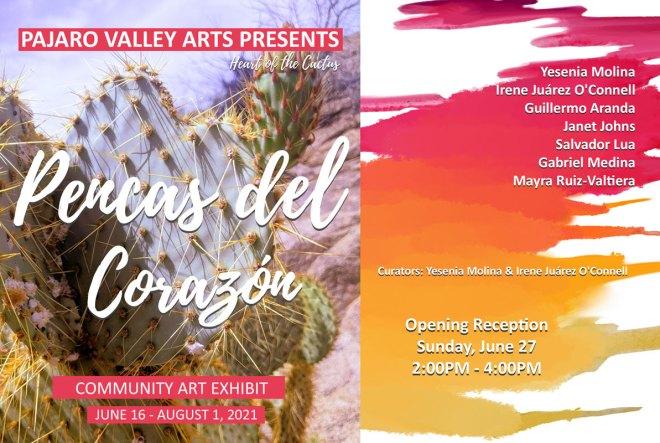 Heart of the Cactus Community Art Exhibit June 16 - August 1, 2021