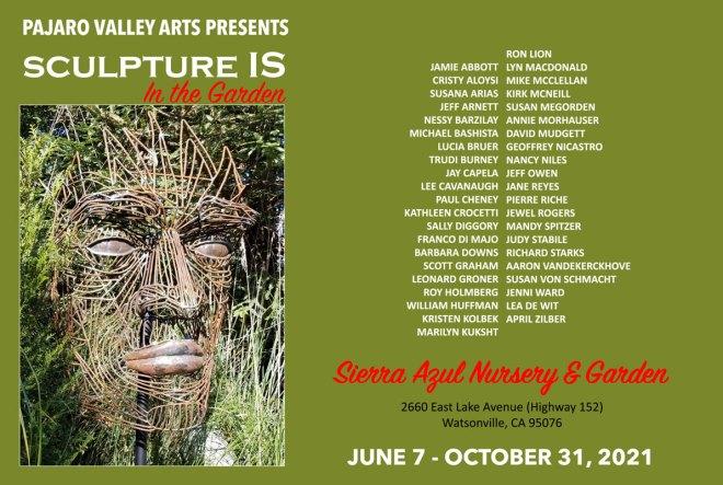 Sculpture IS: In the Garden 2021 Sierra Azul Nursery June 7 - October 31, 2021