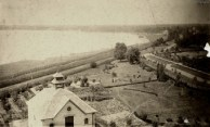 1887 Wilson Park. Early version of King Street to right. Ocean View Hotel top right. Toronto Archives.