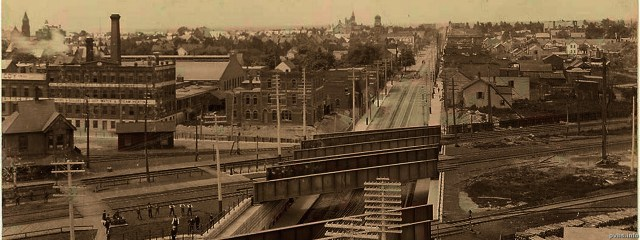 Parkdale seen from the roof of the Gladstone Hotel looking south west in 1898.