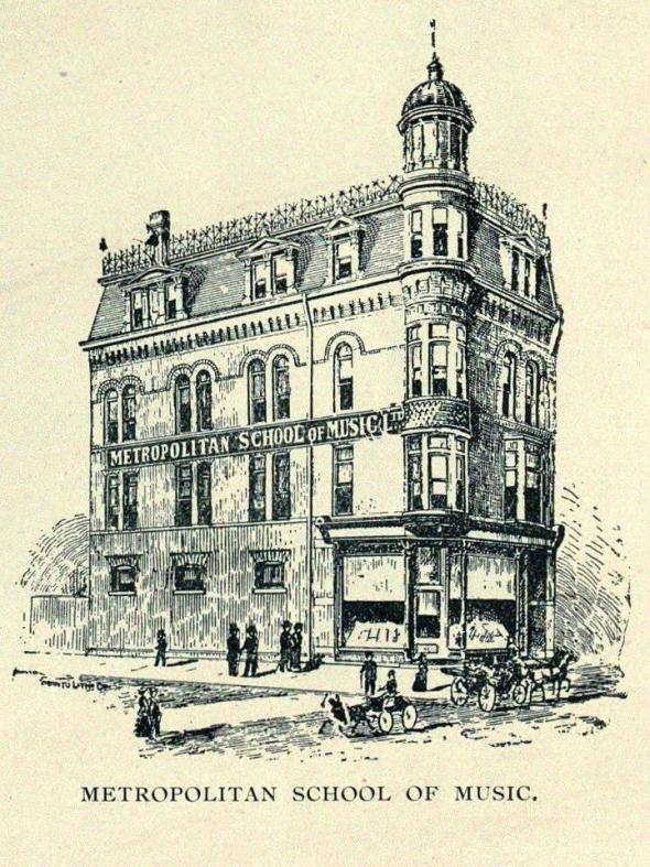 q Queen St W east to Macdonell 1895 to 1912 Metropolitan School of Music greg Chown