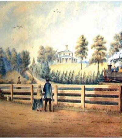 1836 Colborne Lodge Painted 1865 by John Howard