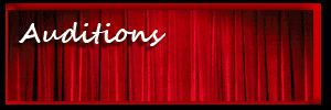 Auditions - red velvet curtain background
