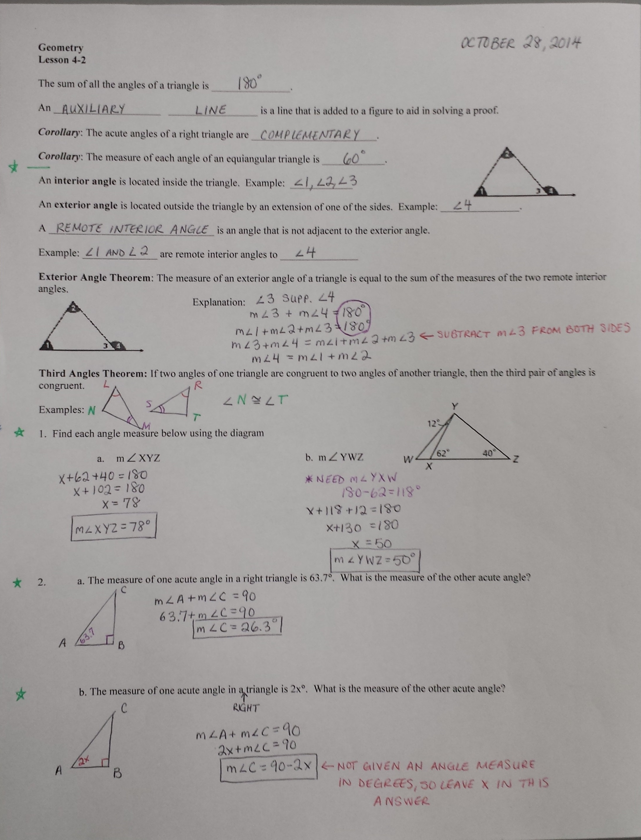 Holt Geometry Worksheet Answers