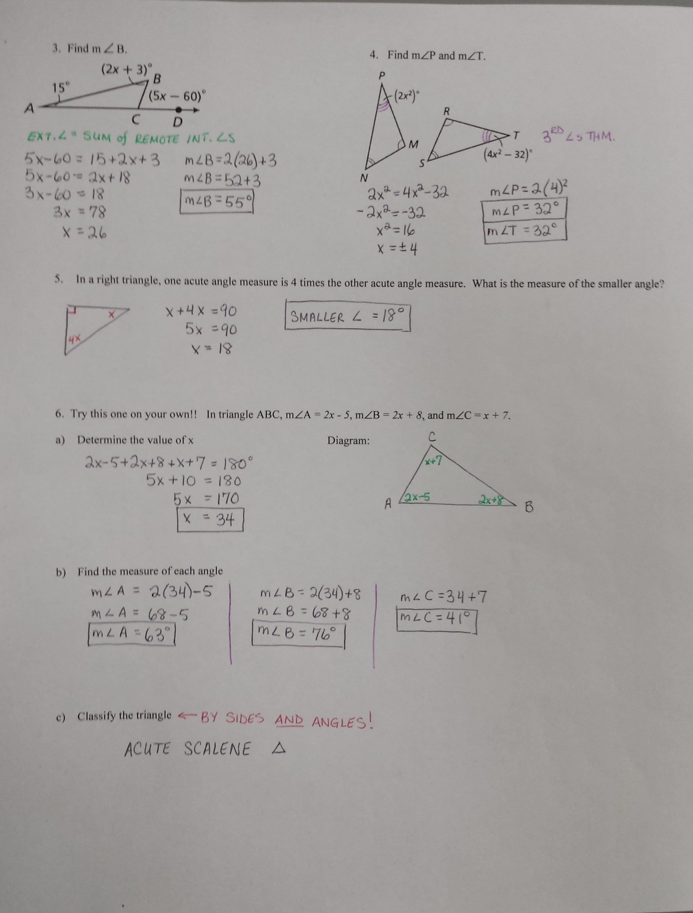 Course 2 Chapter 7 Geometric Figures Lesson 3 Homework