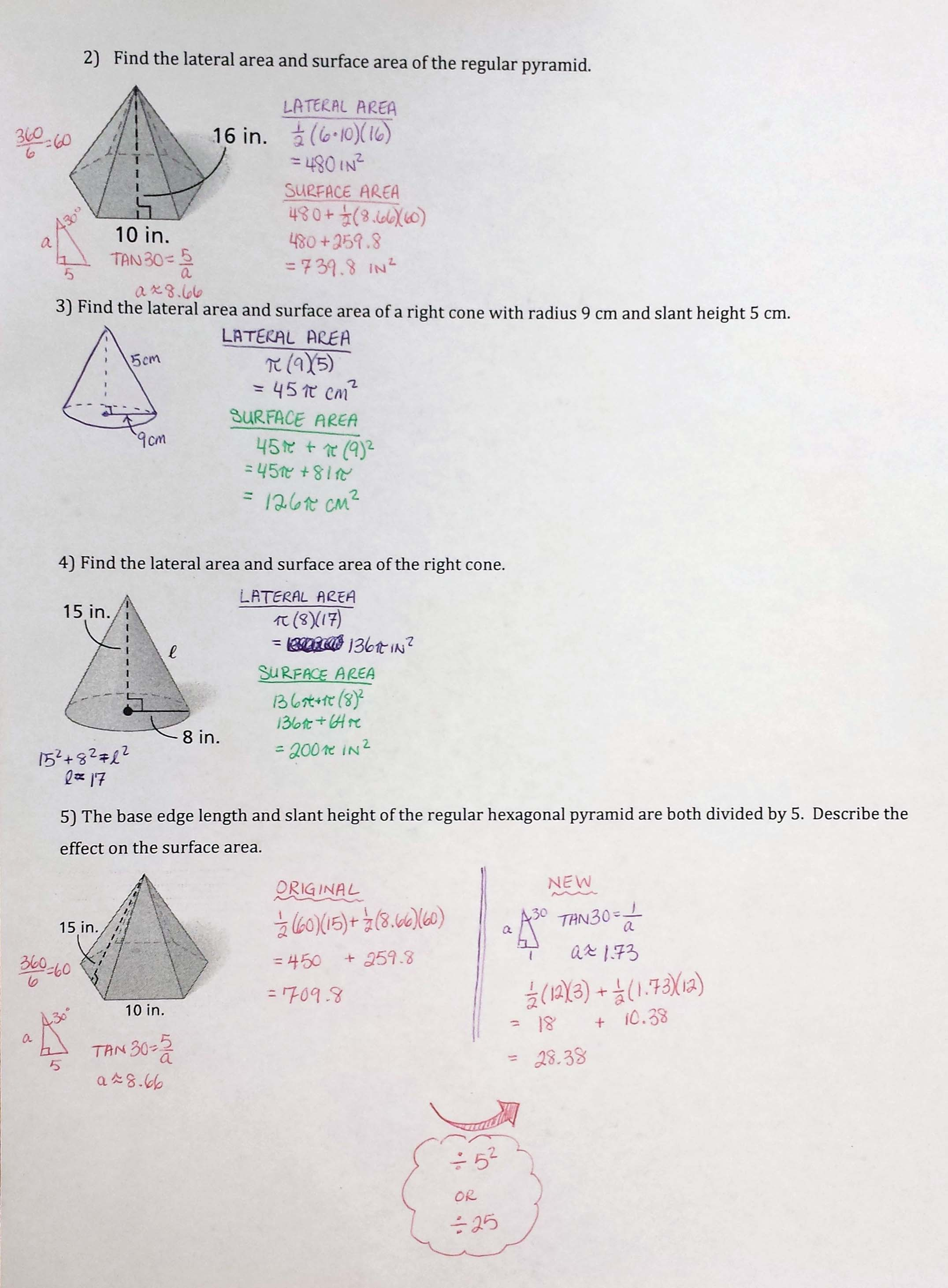 Faceing Math Worksheet Lesson 5