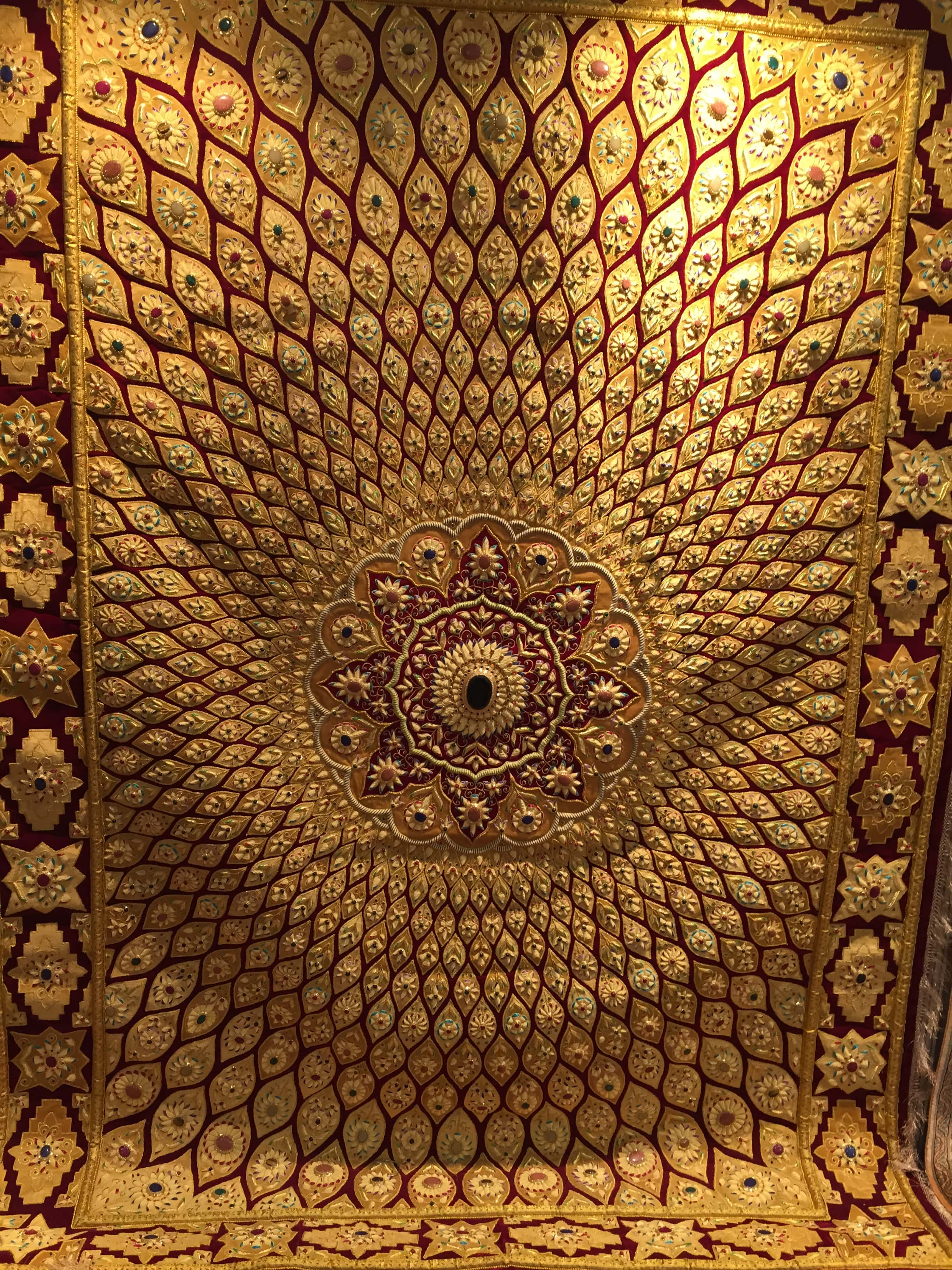 This Is An Image Of Rug From India Made From Real Gold Threads