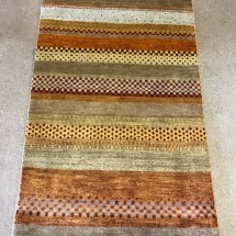 gabeh-orange-yellow-multi-color-rug-checkered-pattern-overview