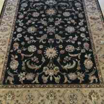 Black Jaipur Rug Wool and Silk Scottsdale AZ PV Rugs Overview