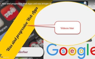 Videos zu progressive Web Apps