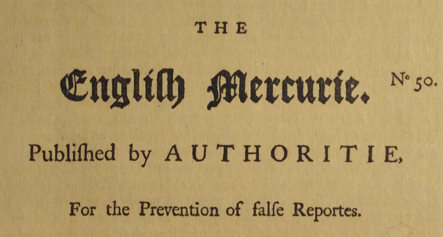 The English Mercurie - title