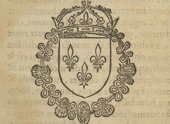 Royal arms of France from title page