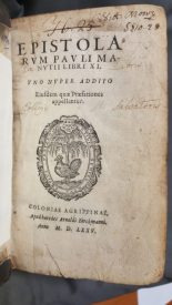 Aldine Epistles title page from St Andrews