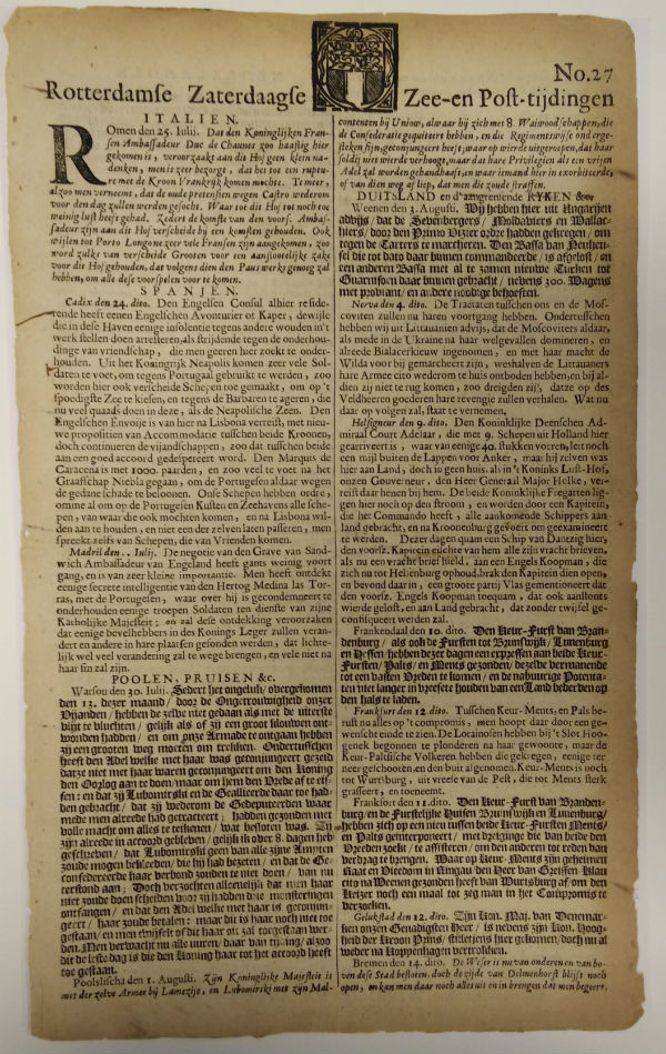 A typical seventeenth-century Dutch newspaper