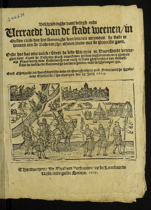 An example of a Verhoeven news pamphlet before he launched his newspaper
