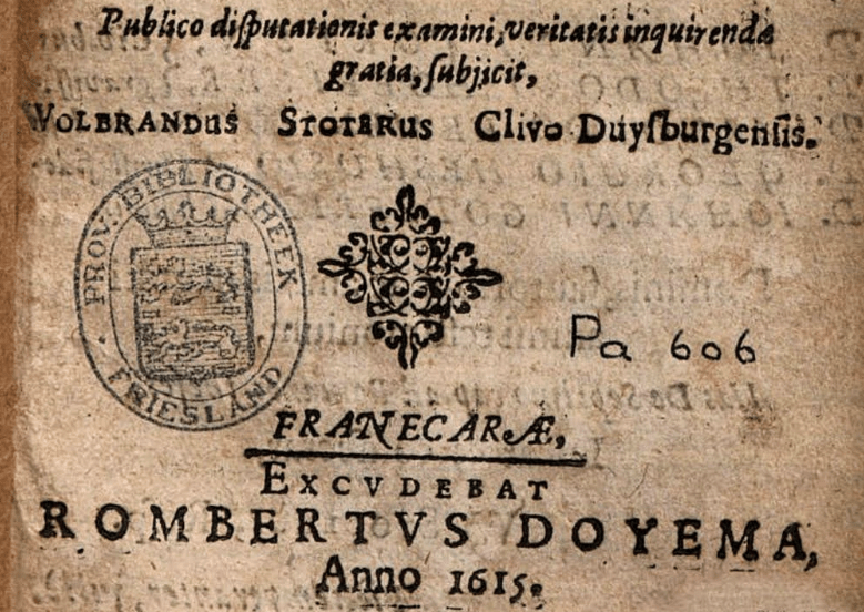 Title page from Theses theologicae de septimo capite ad Romanos