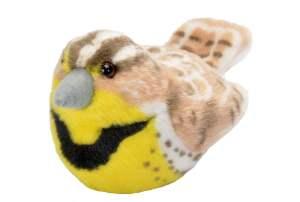 Audubon Western Meadowlark stuffed toy wiht sound