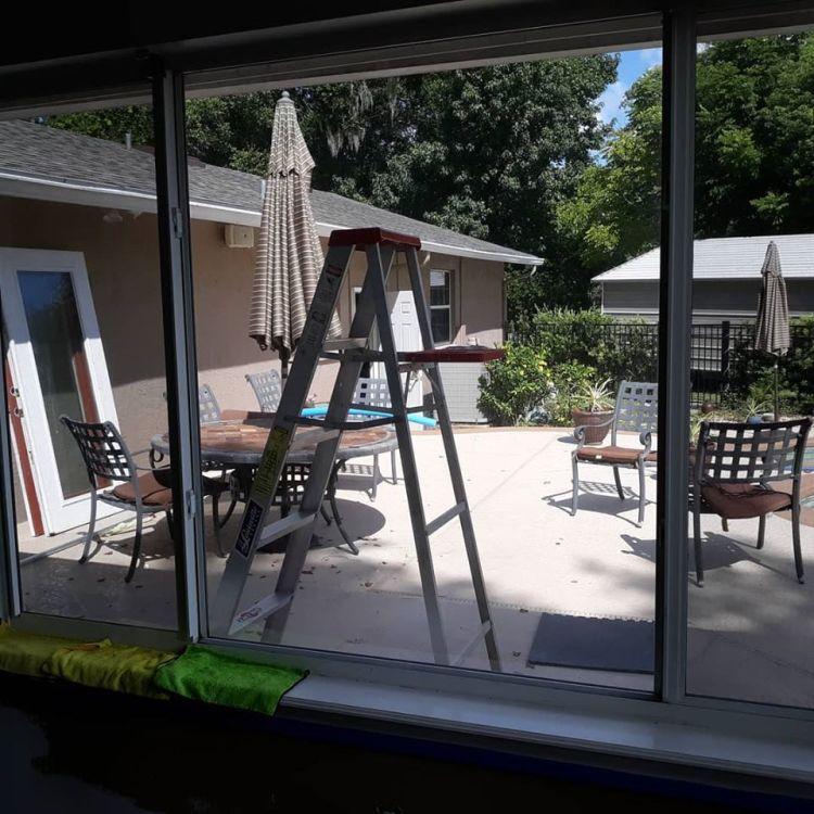 Window film on window