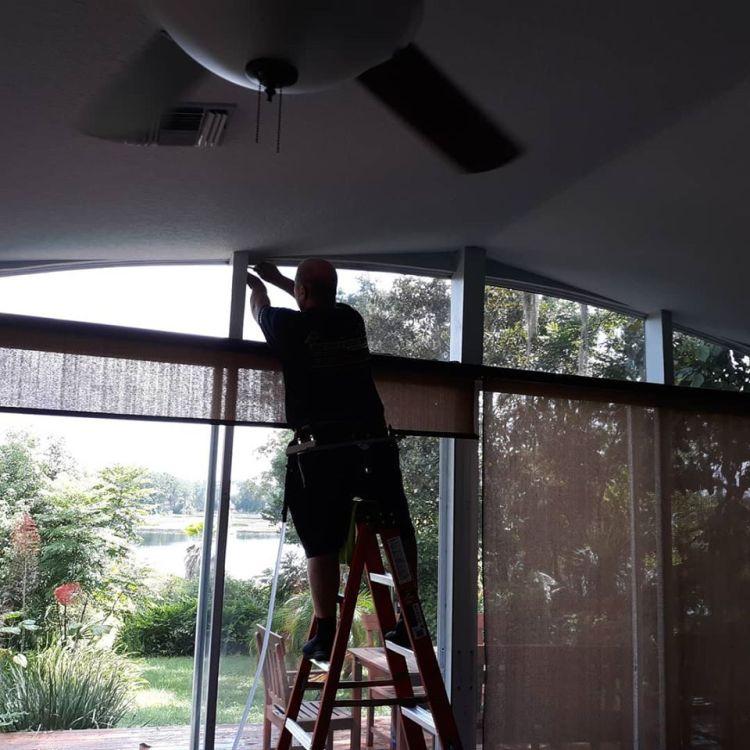 Installing window tinting in Lake Mary Florida