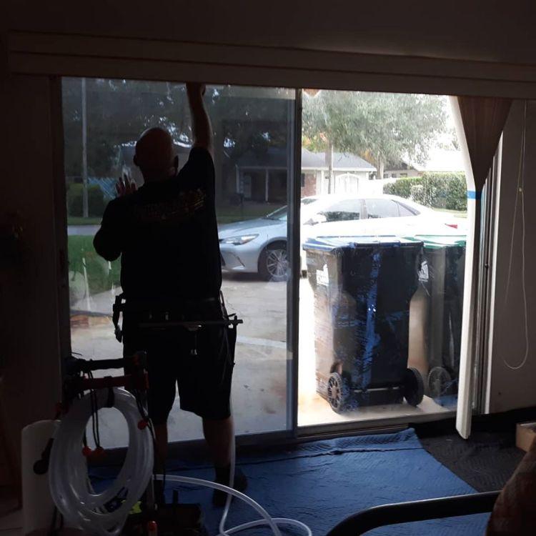 Professional Window Tinting on sliding glass doors