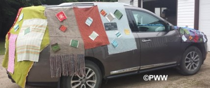 Weave bombed parade car2