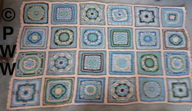 Sanette's crocheted afghan