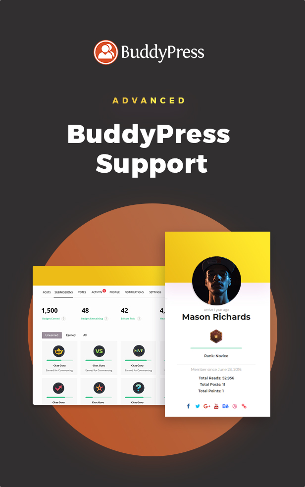 Enhanced Buddypress Support