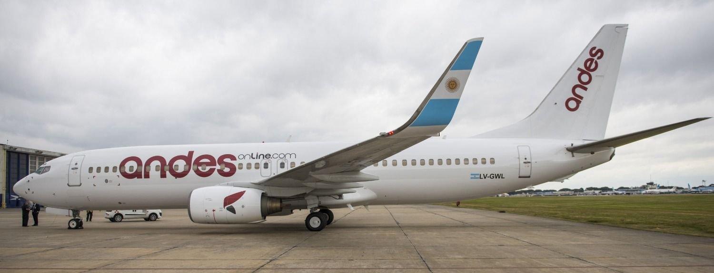 Resultado de imagen para Andes Líneas Aéreas Boeing 737-800