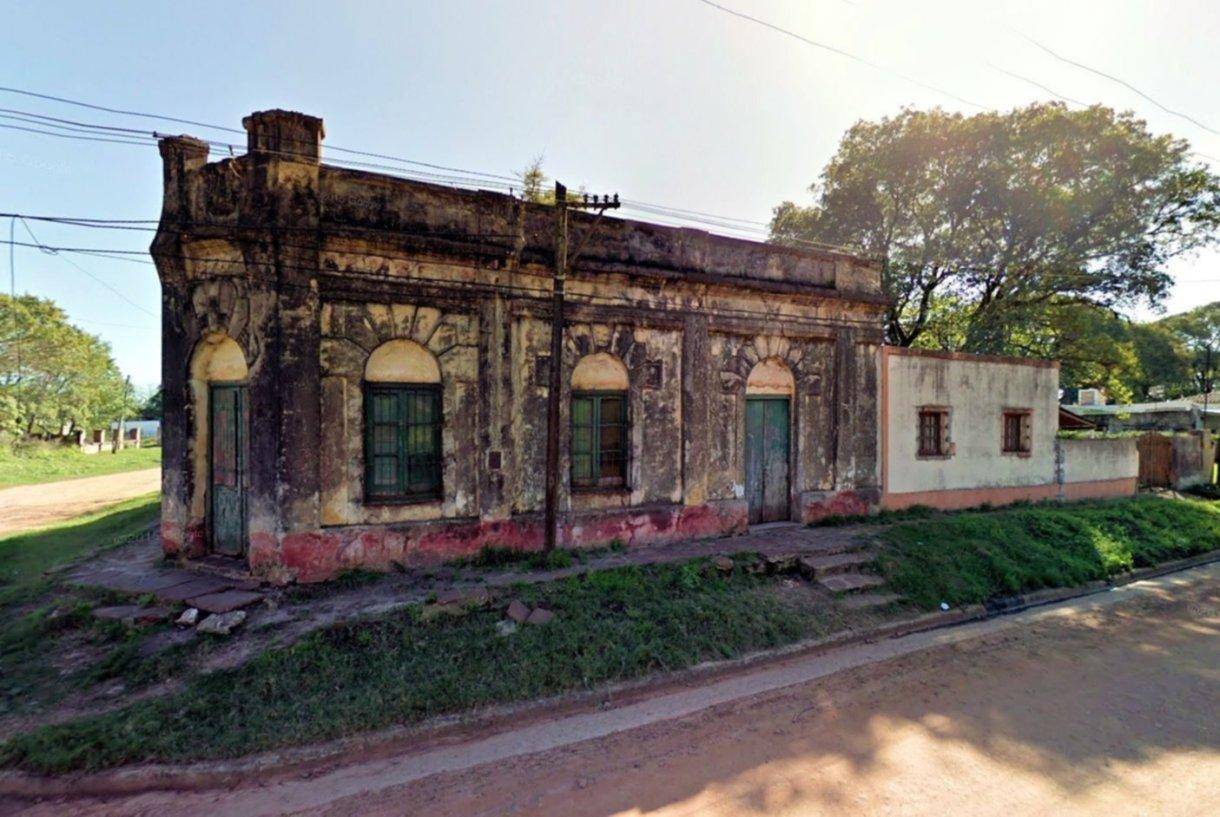 La casa donde ocurrió el crimen, ubicada en Sauce y Aromito.