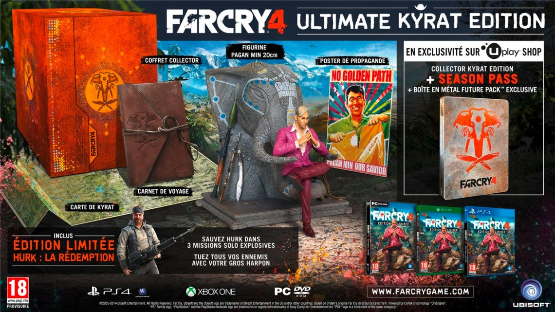 Far Cry 4 Image du collector Ultimate Kyrat Edition