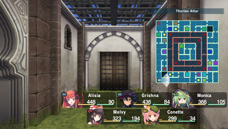 Dungeon Travelers 2 map