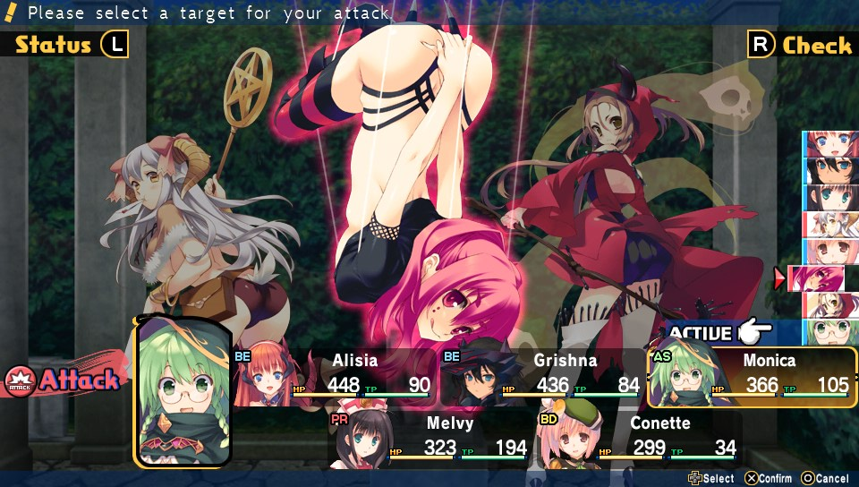 Dungeon Travelers 2 Fight