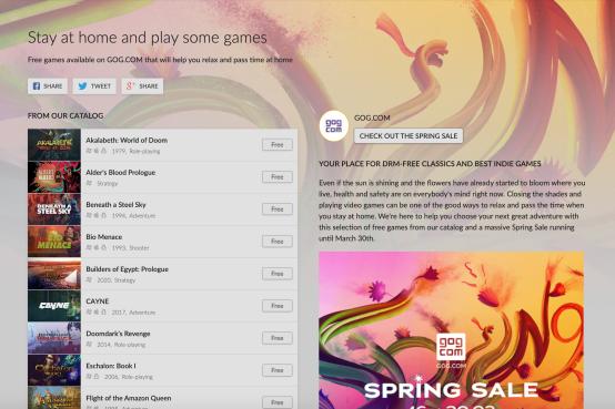 27 jeux gratuits sur GOG.com