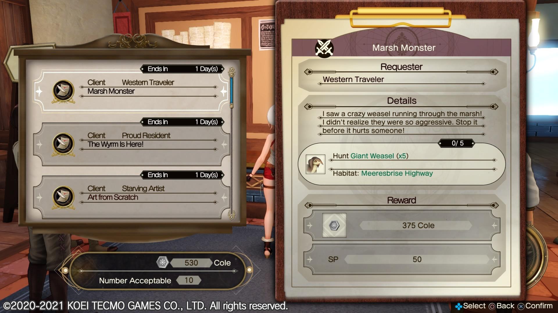 Atelier Ryza 2: Lost Legends requêtes