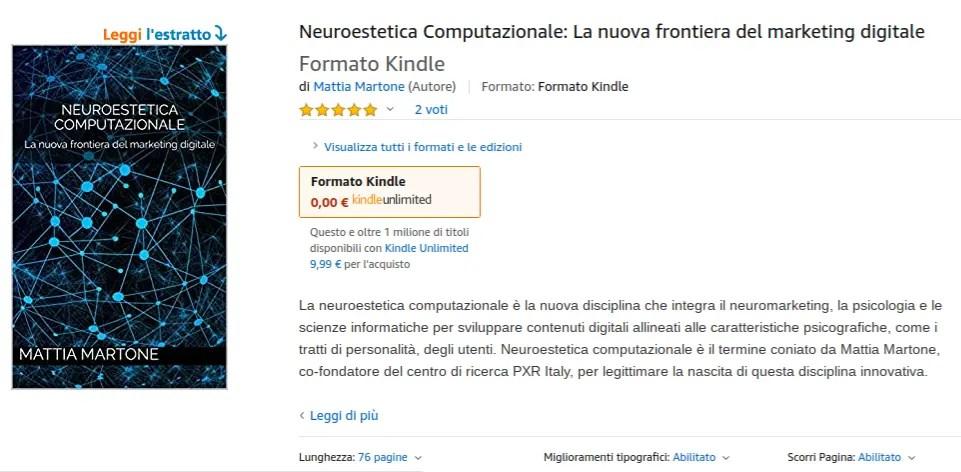 Libro del dott. Mattia Martone su neuroestetica computazionale