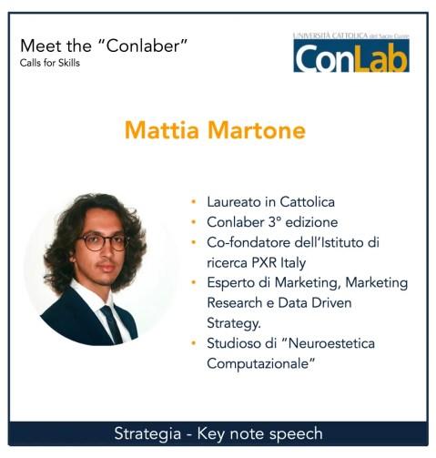 Mattia Martone ConLab Università Cattolica
