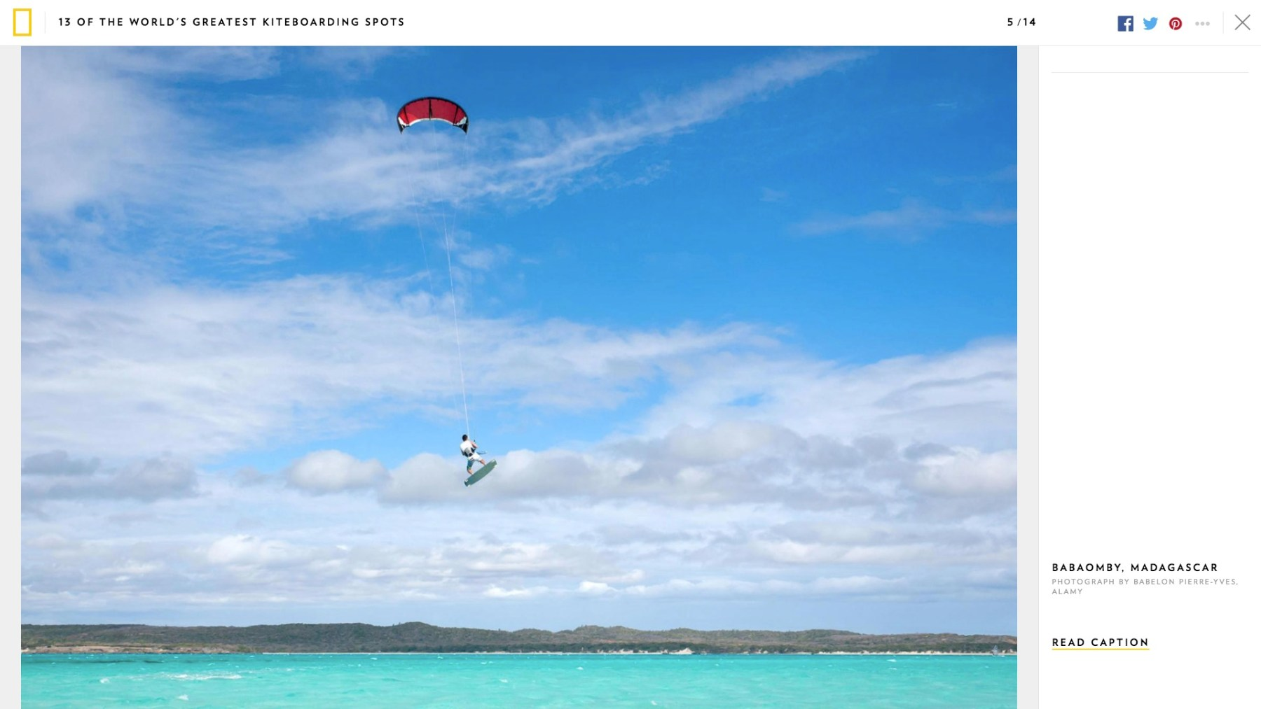 National Geographic Kitesurf à Babaomby. Photo Pierre-Yves Babelon.