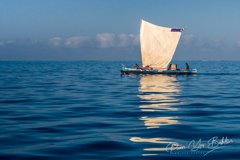 Malagasy traditional outrigger canoe