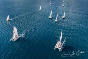 Régate dans l'océan Indien, monocoques et catamarans