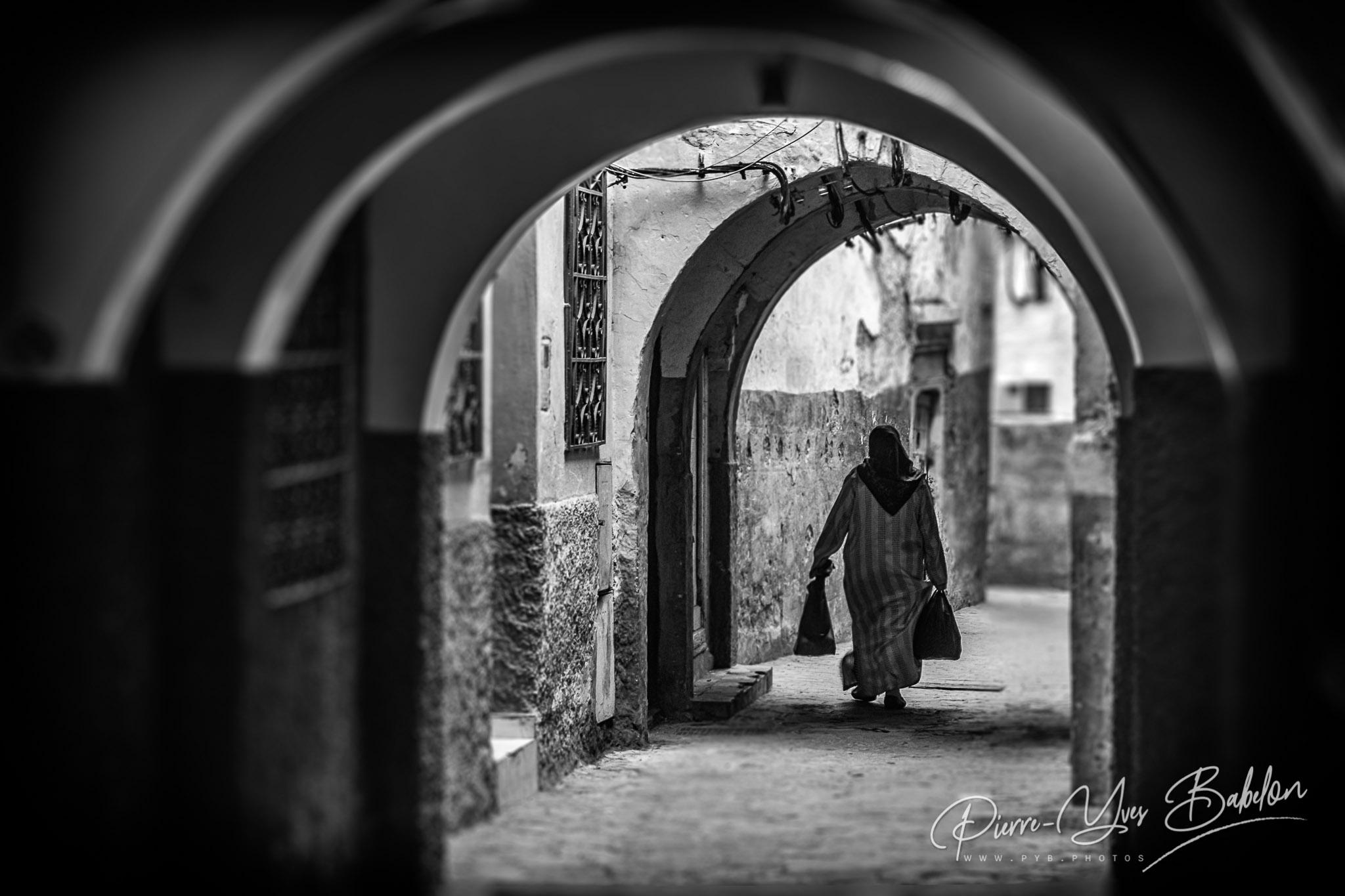 Dans les ruelles de la medina de Tanger, Maroc