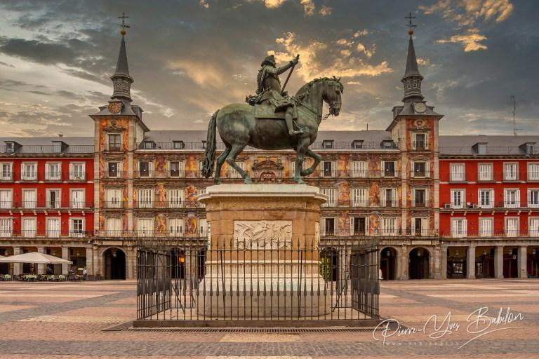 La Plaza Mayor de Madrid (Espagne)