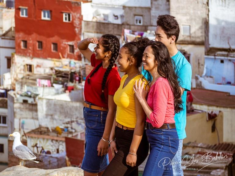 Métis people observe the view