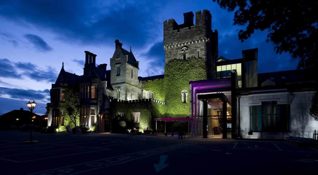 Clontarf Castle Hotel at night